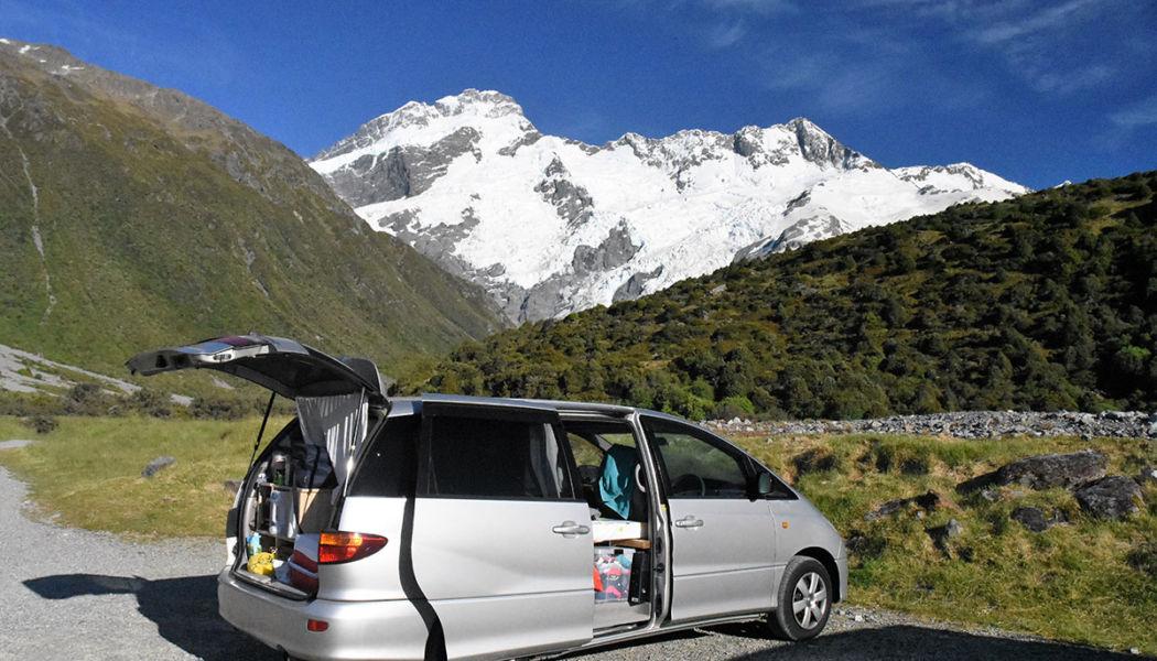 cestování autem po Zélandu